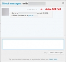 Twitter Direct Message - Auto DM Fail while trying to sell product