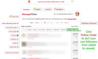 Click to Enlarge - ManageFlitter Follow Order